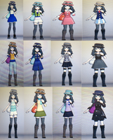 Veronica's Outfits by GamerGirl14