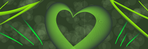 a green heart by techfreak107