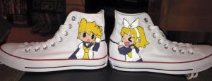 Rin and Len Kagamine Shoes by coolapril