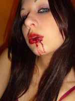 Bloody Mouth Girl Stock 3 by pulse-stock