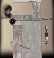 Claire Redfield Youtube Layout by ClaireRedfieldGirl