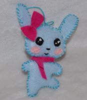Little Blue Bunny Ornament by Mishaila