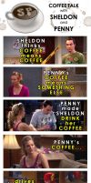 Sheldon Penny Coffee Talk by gwendy85