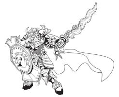Tikbalang Warlord Lineart by Iantoy