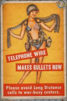 Propaganda Pinups - Telephone Wire makes Bullets by warbirdphotographer