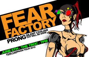 Fear Factory Tour Poster 2010 by luvataciousskull