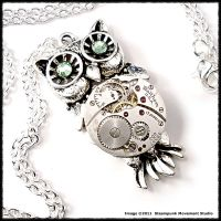 Mechanical Owl Pendant by SoulCatcher06