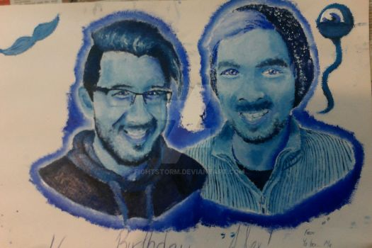 Markiplier and Jacksepticeye by FightStorm