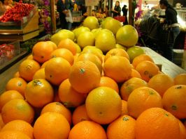 Oranges at Farmers Market by BrettLove