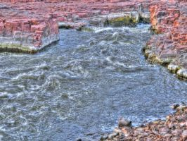 Rushing water HDR by obeyyourmaster