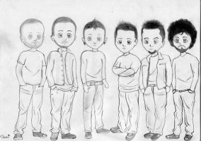 Chibi Linkin Park xD by LinkinSoldier