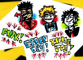 Green Day: The Many Faces of Billie Joe! by XBlackFerretX