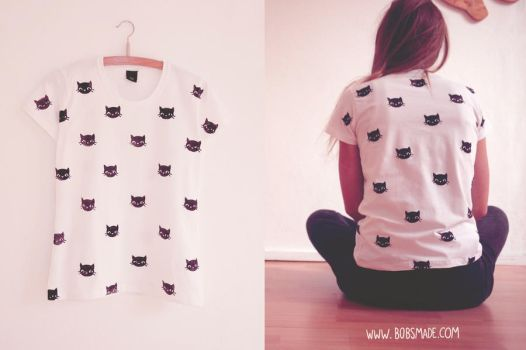 Cat pattern shirt by Bobsmade