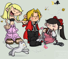 Cross Artstyle - FMA to KND by DanileeNatsumi