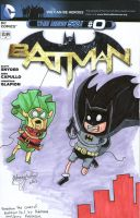 Batman Adventure Time Variant blank cover by johnnyism