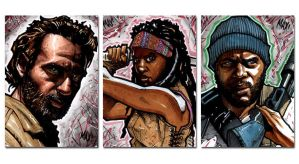 The Walking Dead - Rick, Michonne and Tyreese by inARTia