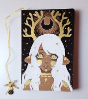 Astral Huemul - Metallic Echoes Handmade Notebook by The-Nonexistent