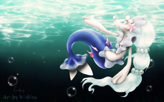 Primarina pokemon by Wolfen-C
