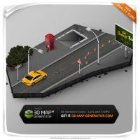 Cars and Traffic - Isometric Map Icons by templay-team