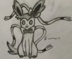 Sylveon Detailed Sketch by xSammyKayx