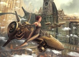 A Steampunk Fairytale_Detail by frankhong