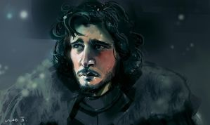 Jon Snow by saltytowel