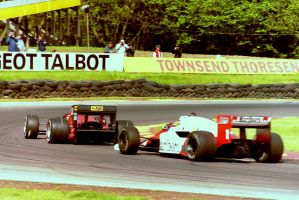 Johansson   Prost (Great Britain Tyre Test 1986) by F1-history