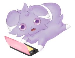Espurr plays 3DS too!