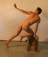 Frightened Male Nude 3 by TheMaleNudeStock