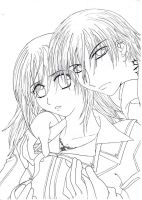 Blood - Vampire Knight lineart by ann-chan20