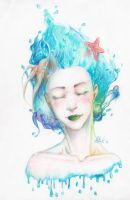 She Dreams Of The Ocean by OctoGear