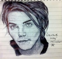 Gerard Way - Biro Portrait by Believer-of-Dreams