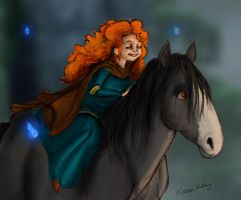 Merida and Angus by heylorlass
