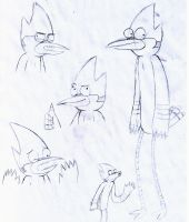 Mordecai Sketches by shadow4everandaday
