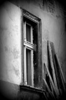 window and a pile of boards by Shreever