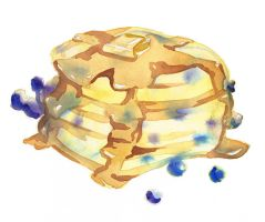 Blueberry Pancakes by HauntedHouse667