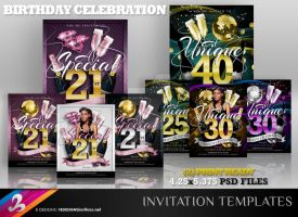 Birthday Celebration Invitation Templates 2 by AnotherBcreation