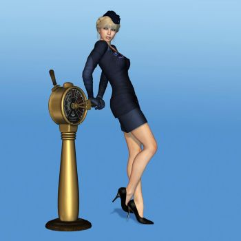 Navy Girl by Roy3D