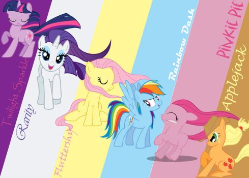 Mane 6 Wallpaper by fade2BLACK205
