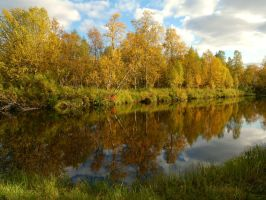 Karpelva in autumn colors by nordfold