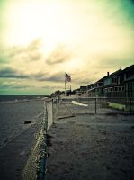 Beach and Flag by ksouth