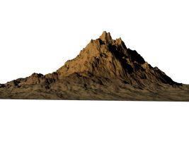 Bryce Rendered Mountain by mysticmorning
