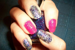 Glitter nail art - manicura brillos by butterfly1980