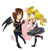 Commission - Demented Goldilocks and Nocturna by RireNe-RN