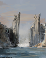 Argonath by FoxInShadow