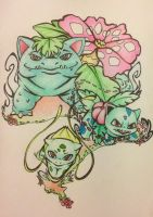 Bulbasaur evolution by razledazle