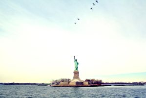 Statue Of Liberty by ippiki-wolf