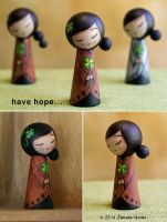 A kokeshi style doll HOPE by ZanetaGc