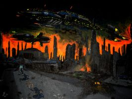 The Battle of Coruscant by Taipu556