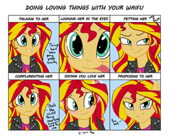 Sunset Shimmer Waifu Chart by varemiaArt